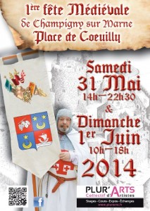 1er Flyer - Médiévales de Champigny 2014