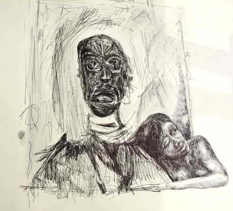 Dessin – homme afrique – Eric Lecerf