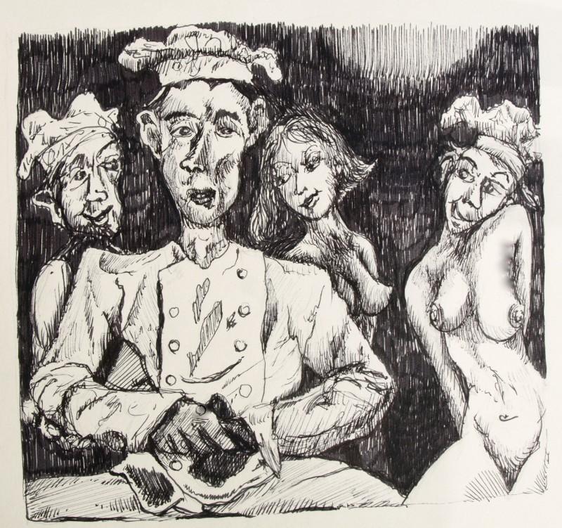 Dessin – homme et femmes – Eric Lecerf