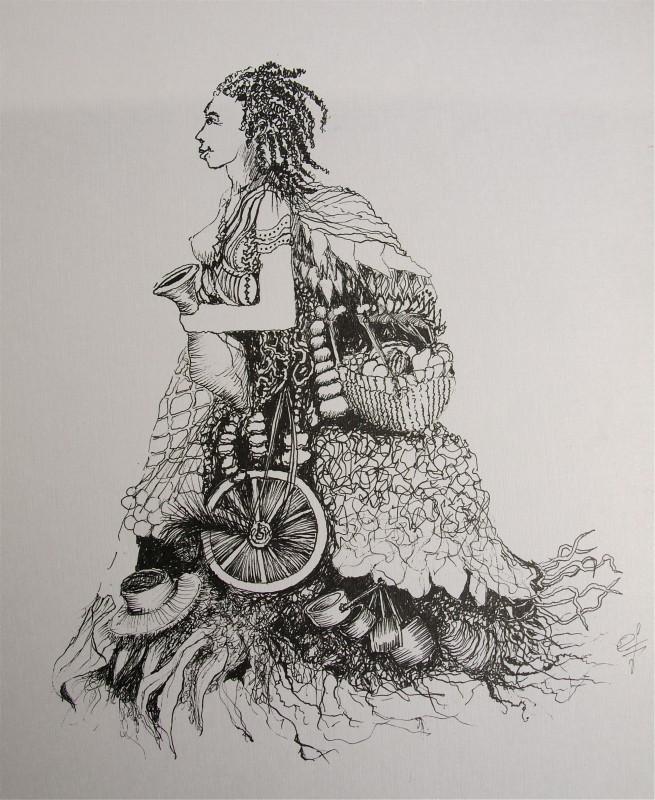 Dessin – femme profil – Eric Lecerf