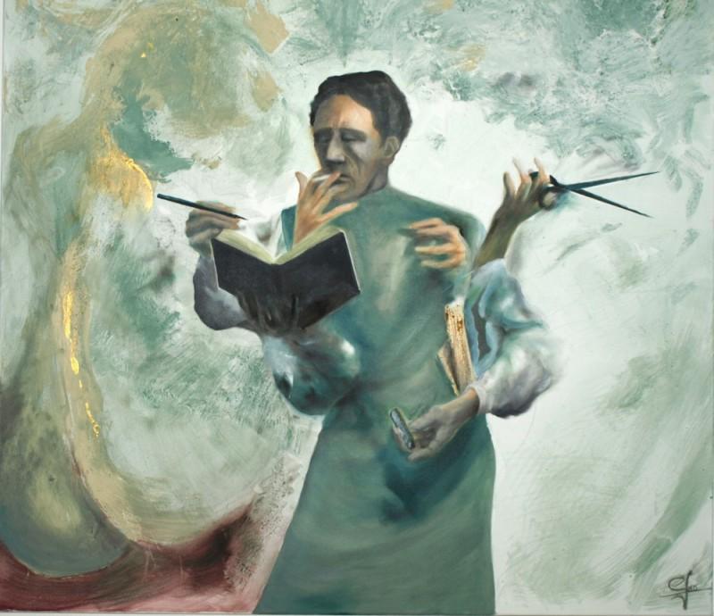 Peinture –  homme – Eric Lecerf